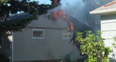 Unattended grill starts fire at a home in Oregon
