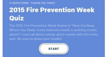 Take the 2015 Fire Prevention Week quiz to test your knowledge on smoke alarms