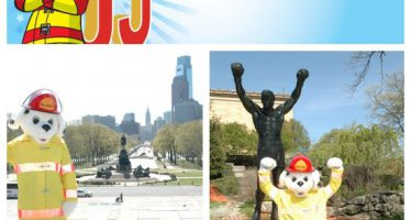 Sparky checks off bucket list items 14 and 15: Visit the Rocky steps and the Liberty Bell