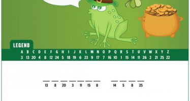 Crack the Code with Sparky and find out why frogs like St. Patrick's Day